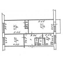 3 к-кв., пр-кт Александра Корсунова, 9, 5/5 этажей, площадь: 63/44/6 кв.м.